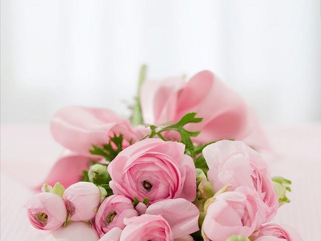 花束と愛する妻