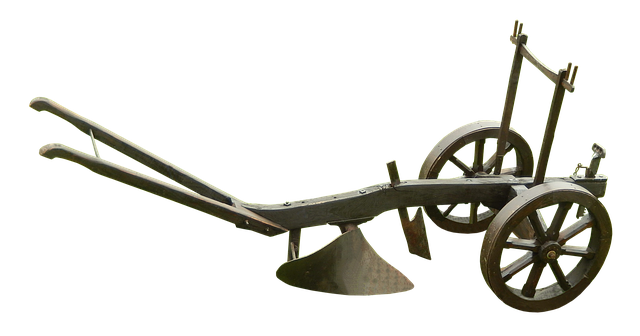 牛のひく馬鍬
