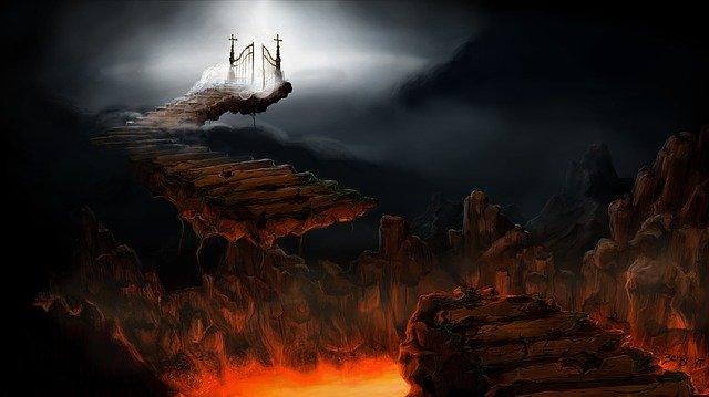 地獄と霊がいる