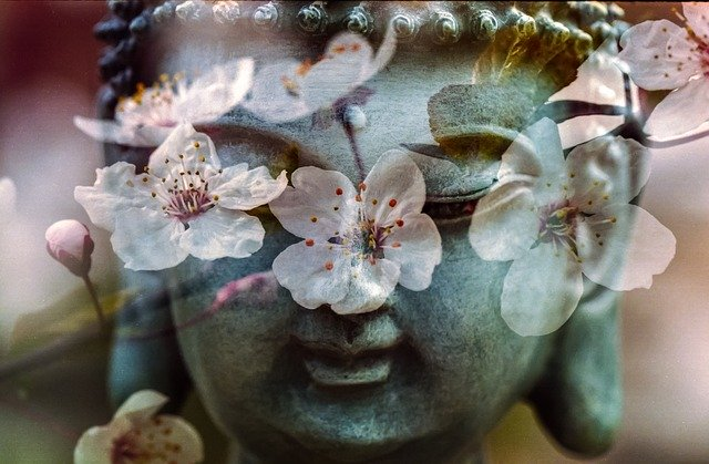 砂利を投げられる仏陀