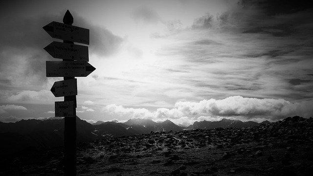 神への道の道標