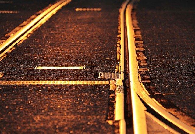 電車と線路とホーム