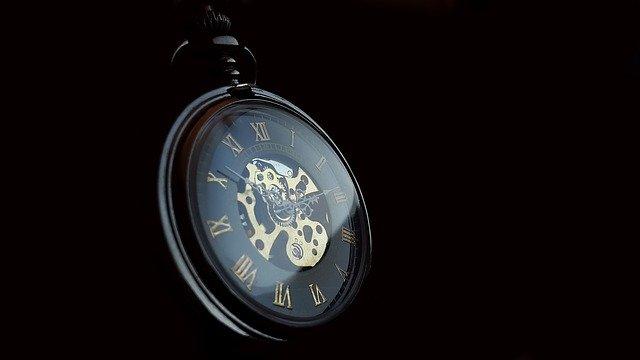 時計の針が進む